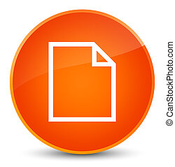 Blank page icon elegant orange round button