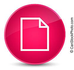Blank page icon elegant pink round button