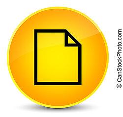 Blank page icon elegant yellow round button