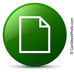 Blank page icon green round button