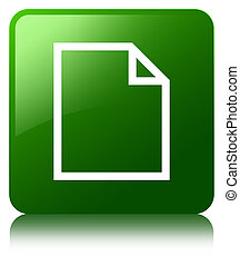Blank page icon green square button