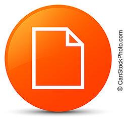 Blank page icon orange round button