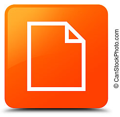 Blank page icon orange square button