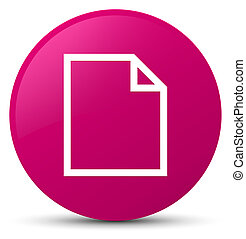 Blank page icon pink round button