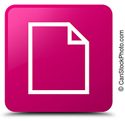 Blank page icon pink square button