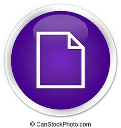 Blank page icon premium purple round button