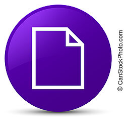 Blank page icon purple round button