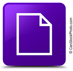 Blank page icon purple square button