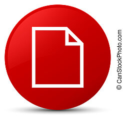 Blank page icon red round button