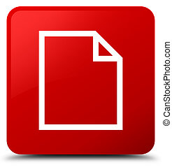 Blank page icon red square button