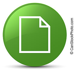 Blank page icon soft green round button