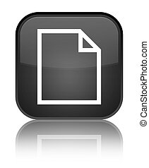 Blank page icon special black square button