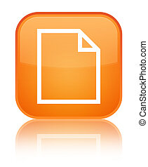 Blank page icon special orange square button