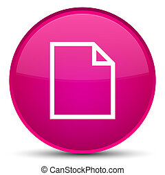 Blank page icon special pink round button