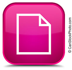 Blank page icon special pink square button