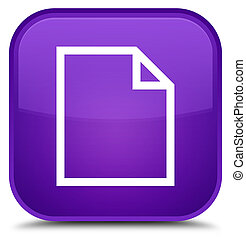 Blank page icon special purple square button