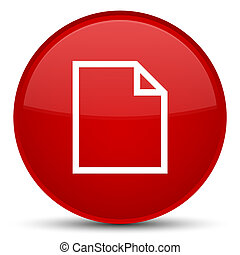 Blank page icon special red round button