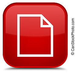 Blank page icon special red square button