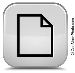 Blank page icon special white square button