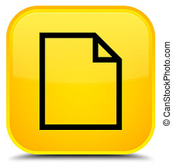 Blank page icon special yellow square button