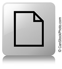 Blank page icon white square button