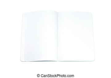 a blank page of open address book a blank page of open telephone