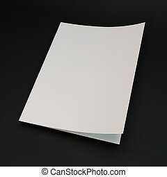Blank page template for design layout. 3d vector...