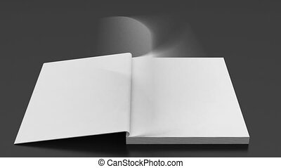 Blank pages fast flipping notepad