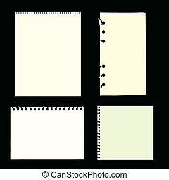 Blank Pages - vector illustration of blank pages