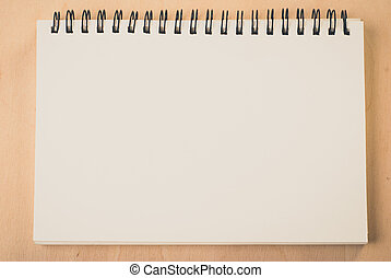 blank pages white paper notebook at office Desk ,