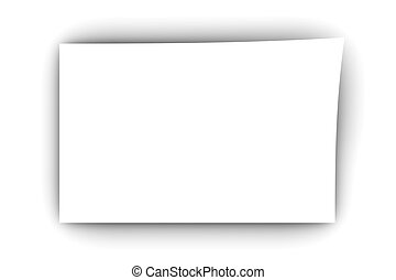 blank paper a blank piece of paper 3d rendered illustration