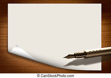blank paper background with pen