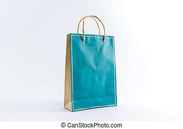 Blank paper bag.