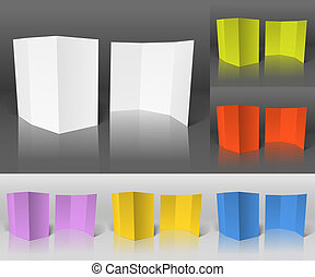 Blank paper booklets set vector template