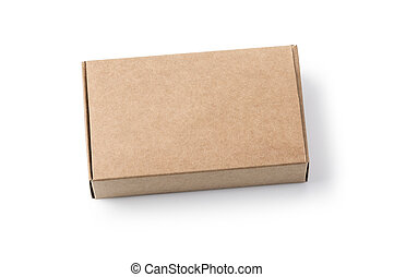 Blank paper box package