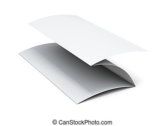 Blank paper brochure. 3d illustration on white background