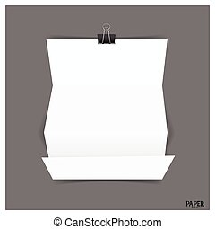 Blank paper brochure mockup. Vector illustration.