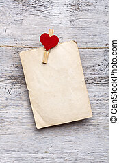 Blank paper cards