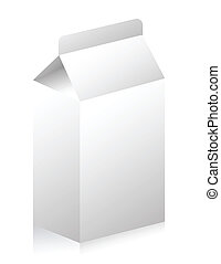 Blank paper carton for milk