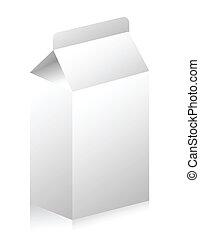 Blank paper carton for milk