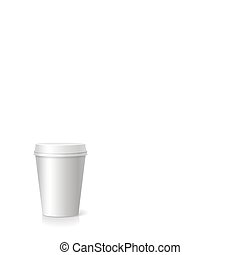 blank paper Coffee drinking cup  vector