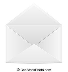 Blank paper envelope for letters on a white background