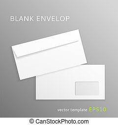 Blank paper envelope