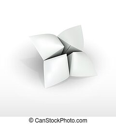Blank paper fortune teller vector design
