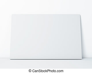 blank paper frame on white