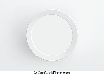 Blank paper frame on white wall. Vector.