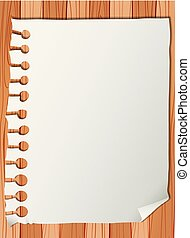 Blank paper note template illustration
