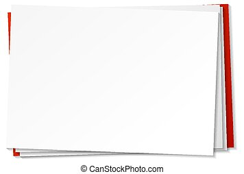 Blank paper note template on white background