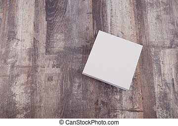 Blank paper on wood table