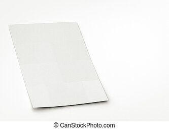 blank paper or brochure sheet, to replace with image.